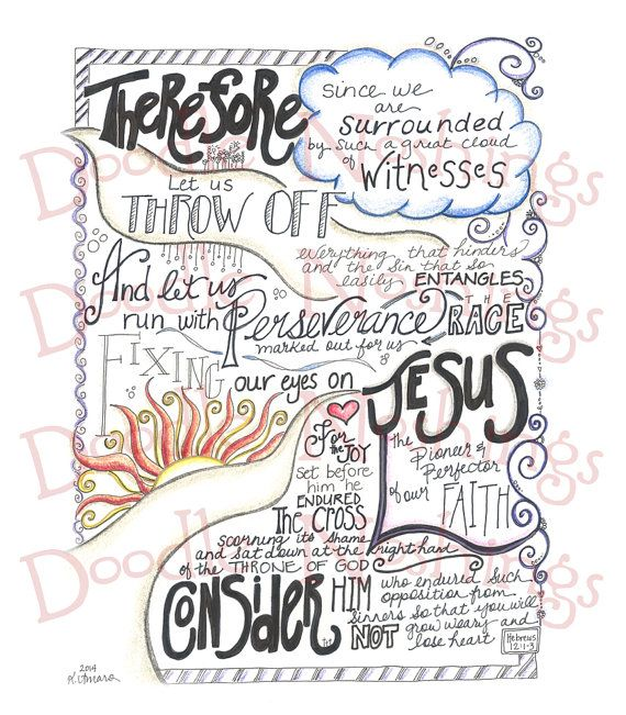 The Race // Hebrews 12:13 by GirlAmaro on Etsy, $10.00