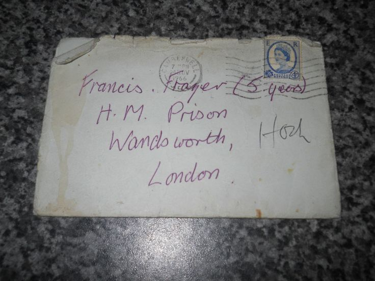 George Cornell's wife Olive signed letter to Frankie Fraser November 1966. This item sold on Ebay for £320 in January 2015.