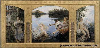 Gallen-Kallela, Akseli Aino-taru, triptyykki, 1891