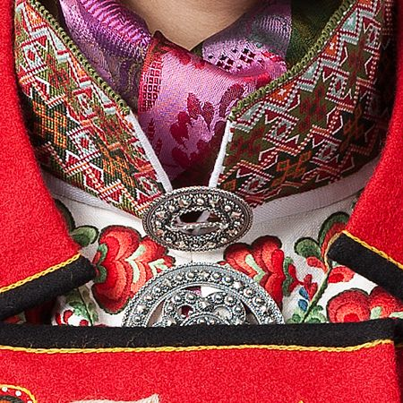 Detail from traditional costume, Telemark Norway
