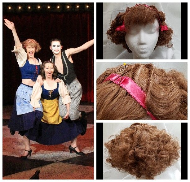 """Gustavus Adolphus College February 2018 Kander & Ebb's """"Cabaret"""" Victor's Wig in """"Two Ladies""""- Finger Waves and Perm"""