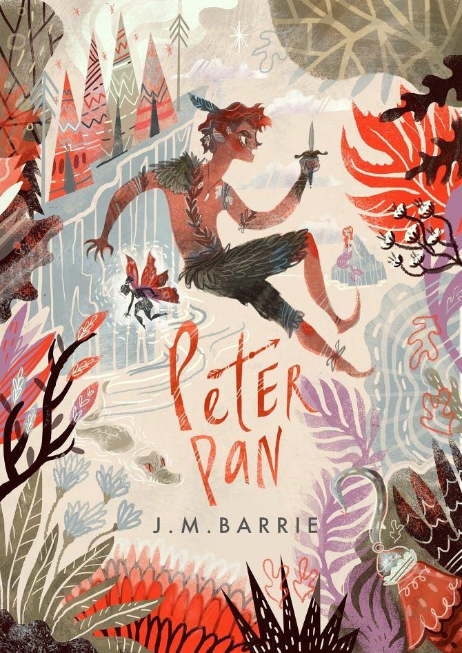 """Copertina realizzata da Karl James Mountford per il libro """"Peter Pan"""""""