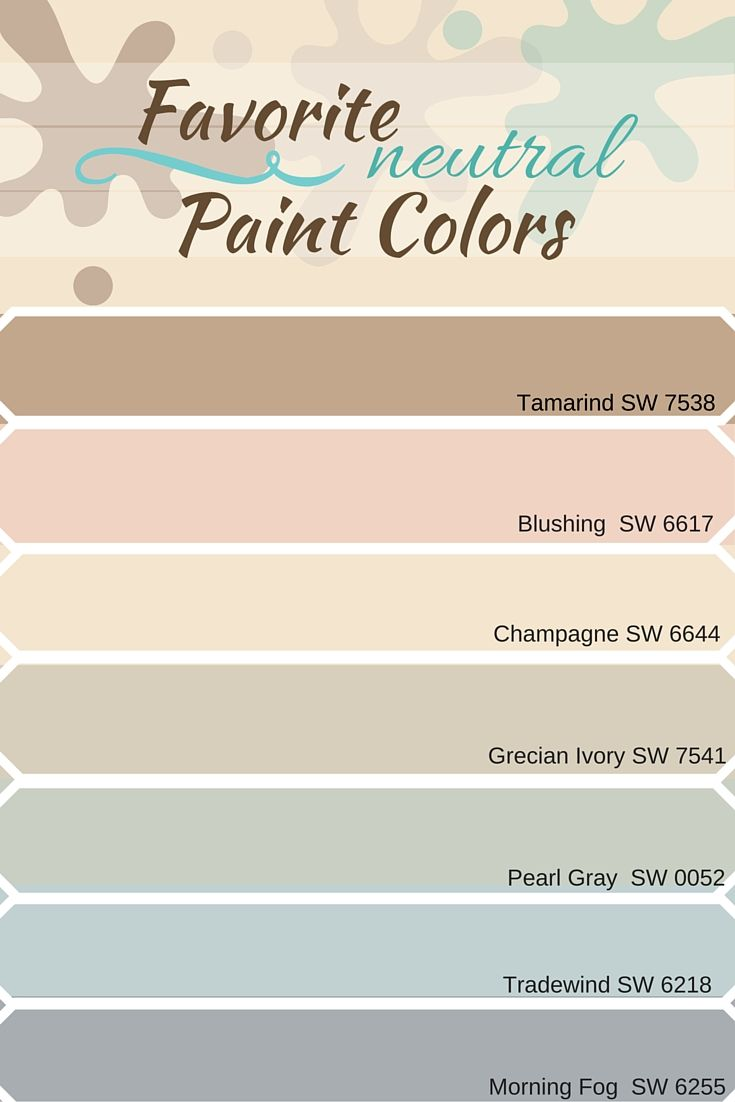 Favorite Neutral Paint Colors From Sherwin Williams For Home Color Schemes