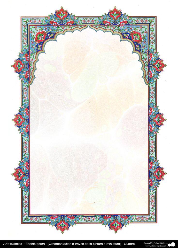 Arte islámico – Tazhib persa - cuadro - 61 | Galería de Arte Islámico y Fotografía