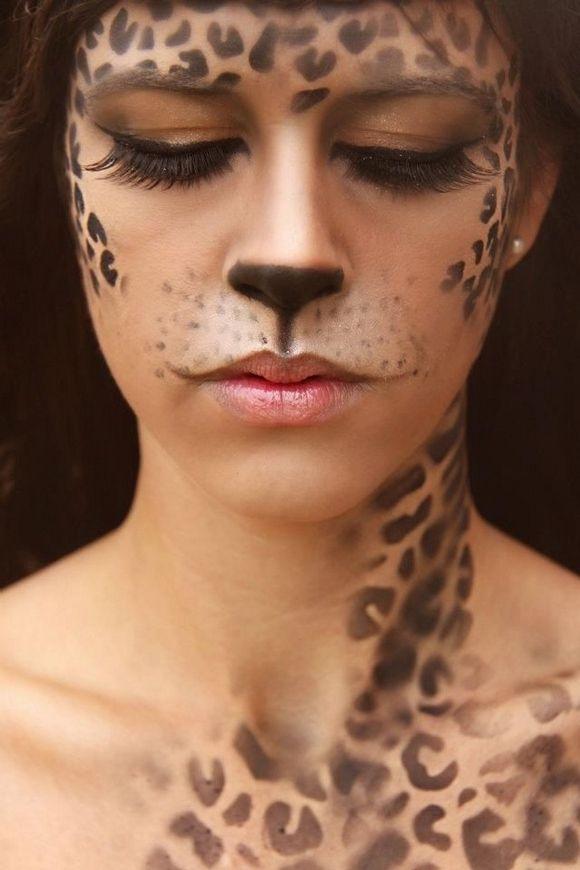 Leopard print makeup animals leopard halloween spots adult costume ideas party costume ideas