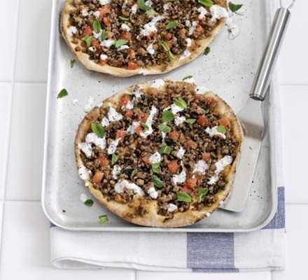 Minty lamb flatbreads | BBC Good Food -------------- Perhaps with some tweaks!