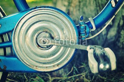 Old bicycle chain guard, vintage effect