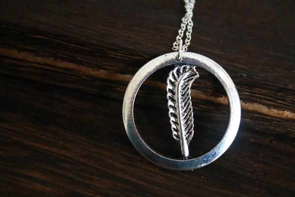 3$ antique feather jewelry Led Zeppelin Symbols Pendant necklace