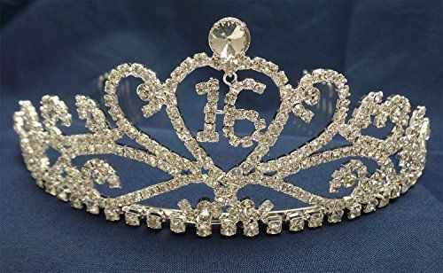 Sweet 16 Birthday Party Princess Rhinestone Crystal Tiara Crown t58 in Clothing, Shoes & Accessories, Wedding & Formal Occasion, Bridal Accessories | eBay