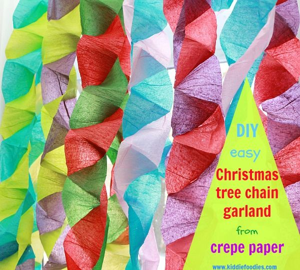 How To Make Crepe Paper Christmas Decorations : Best crepe paper garland ideas on
