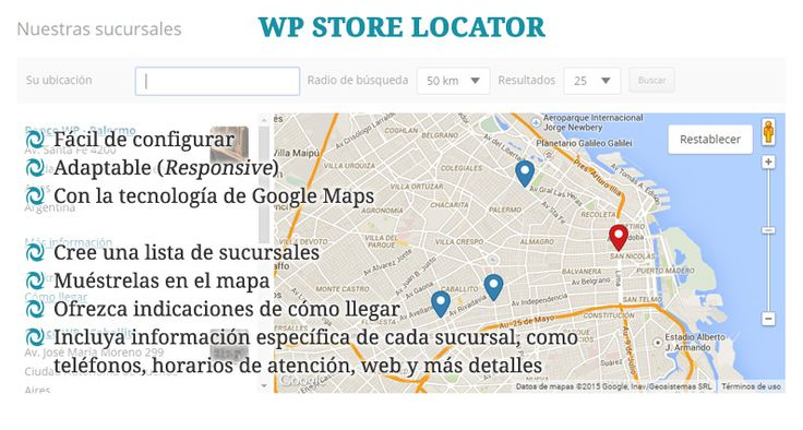 WP Store Locator: Plugin para crear un mapa de sucursales