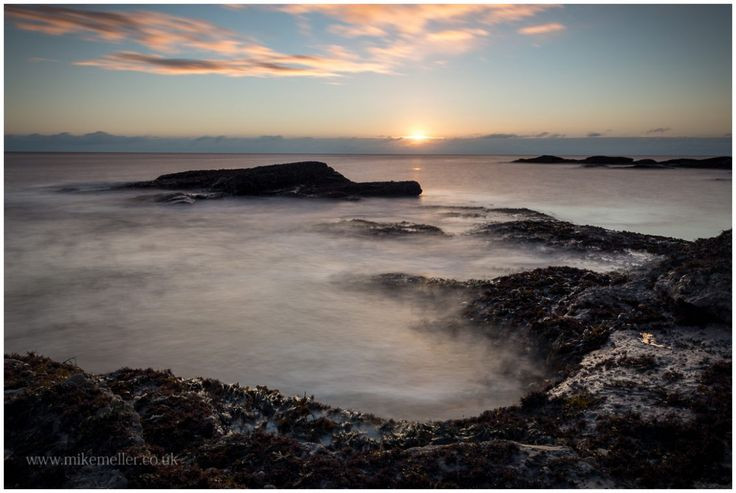 Sunrise at Carlingheugh Bay in Arbroath, SCOTLAND. Seascape Photography.