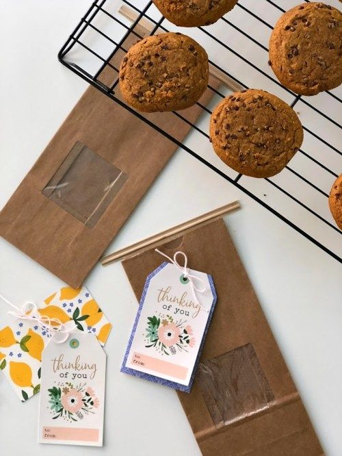 Cookie Gift Idea With Easy Handmade Tag