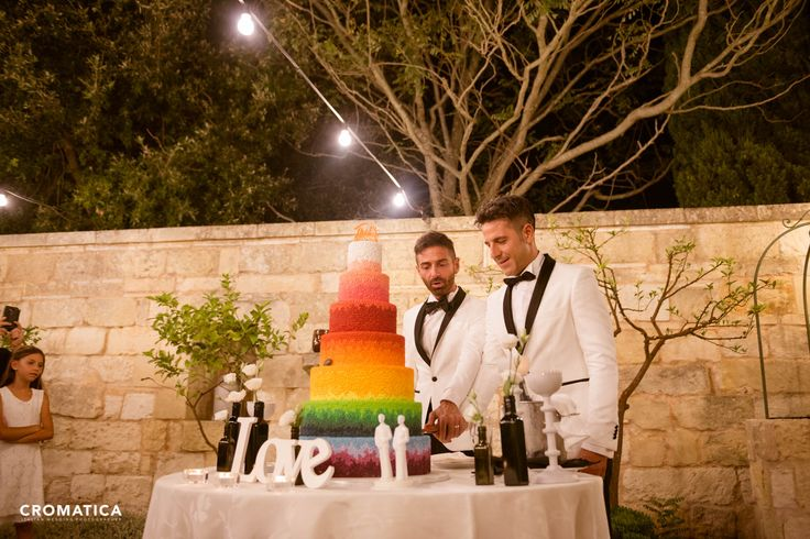 Wedding gay. Unione Civile Alessandro e Tony. Photo: Cromatica Abiti: Contaldo - Lecce Location: Masseria San Lorenzo - Lecce Shoes: Prada Cake: Di Donfrancesco catering  Love is Love. Love wins.