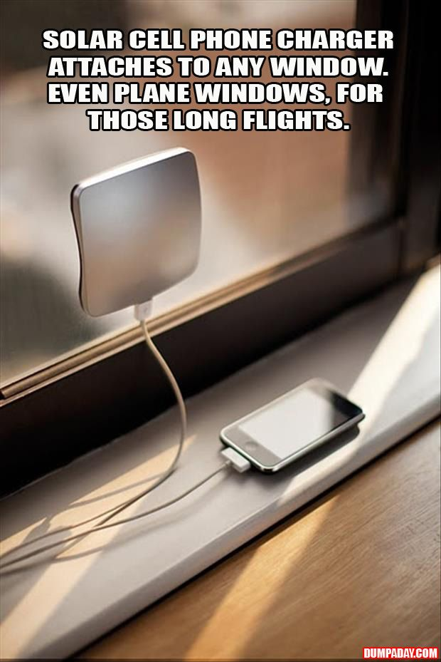 a solar charger sticks to any window