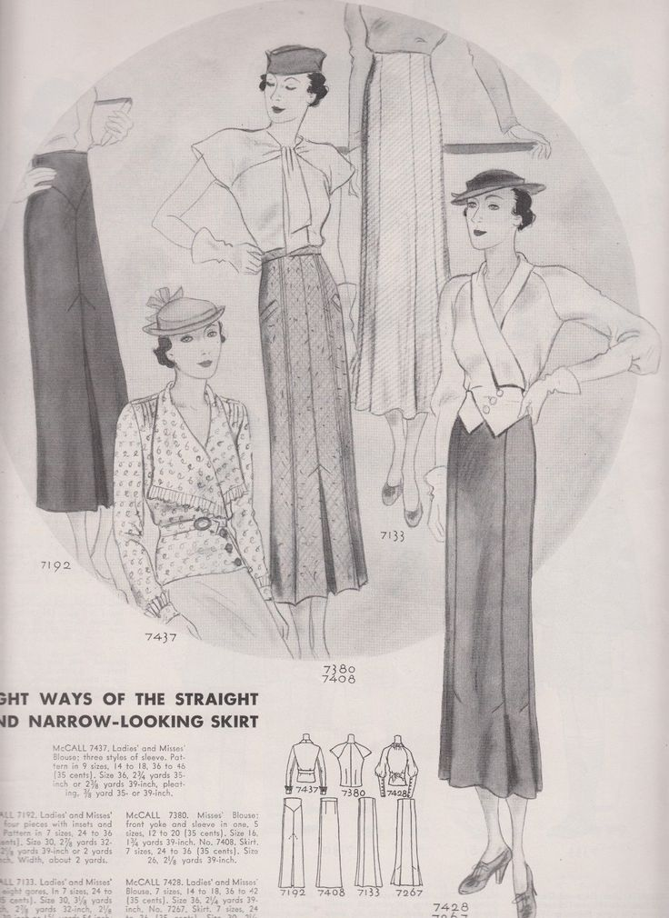 McCall Fashion Book, Autumn 1933 featuring McCall 7192, 7437, 7380-7408, 7133 and 7428