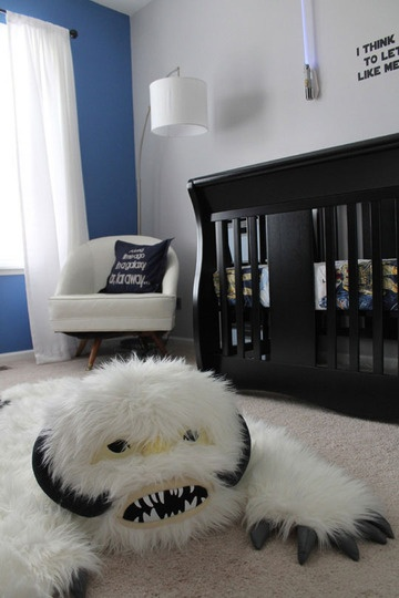 for our future sons.: Idea, Stars War Baby, Stars War Rooms, Stars War Nurseries, Star Wars Nursery, Baby Rooms, Wampa Rugs, Kids Rooms, Starwars