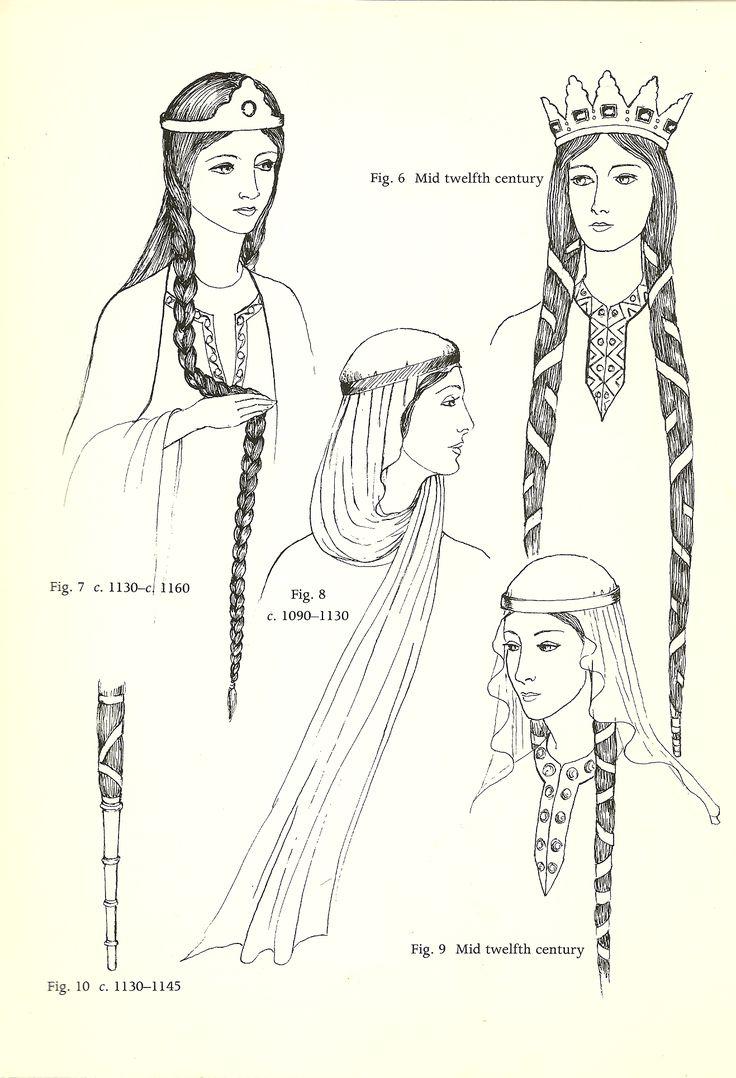 Norman (1066-1154): couvre-chef, cabello cubierto, y la longitud del extremo