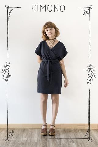 Cœur de Loup -  Robe Kimono disponible sur mesure (plusieurs couleurs offertes) - prix régulier 120,00$