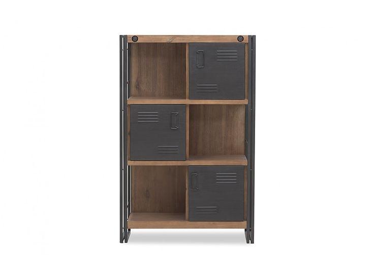 City2 3 Door, 3 Tier Bookcase | Super Amart