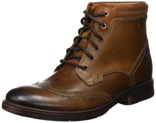 Clarks Devington, Botines Para Hombre, Marrón (Tobacco Leather), 39.5 EU