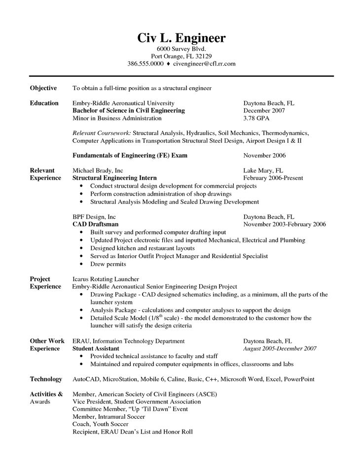 Good Civil Engineer Sample Resume Hector Best Sample Civil Engineer Resume