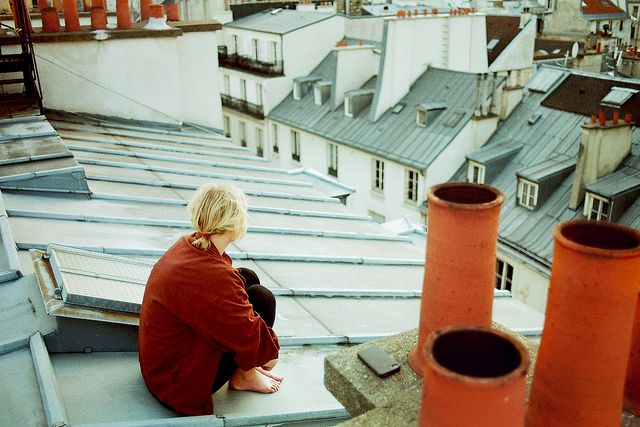 Rooftop dreaming.    From: http://www.flickr.com/photos/heddaselder/7032380669