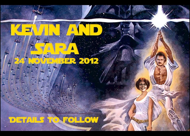 Star Wars save the dates