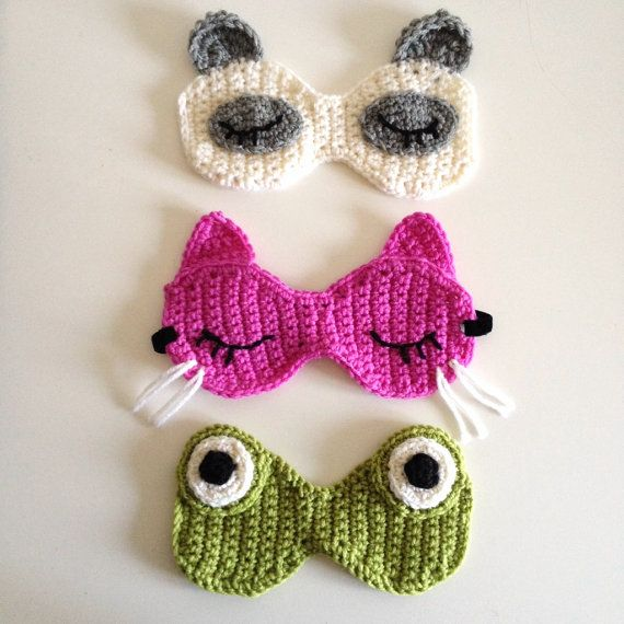 Gaia6Gattini ZOO Sleeping Mask pdf crochet pattern por gaia6gattini, $7.00