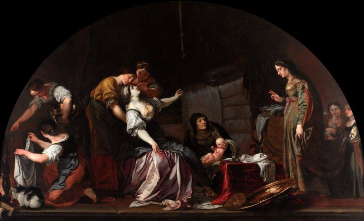 Karel Škréta - Narození svatého Václava (1640, NG Praha)