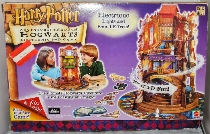 Harry Potter - Adventures Through HOGWARTS Electronic 3-D Game, Boxed