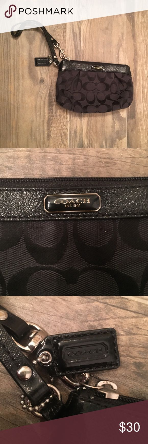 Coach clutch Small black coach wristlet! Perfect for prom! Coach Bags Clutches & Wristlets