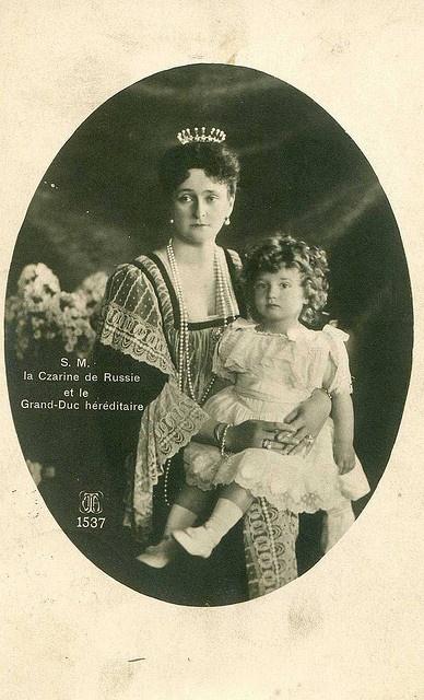 Empress Alexandra and his son, Alexei