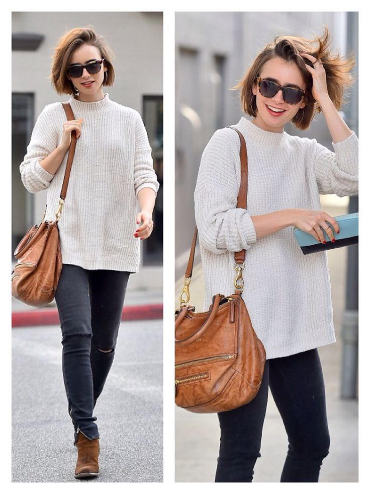 Lily Collins - Street style
