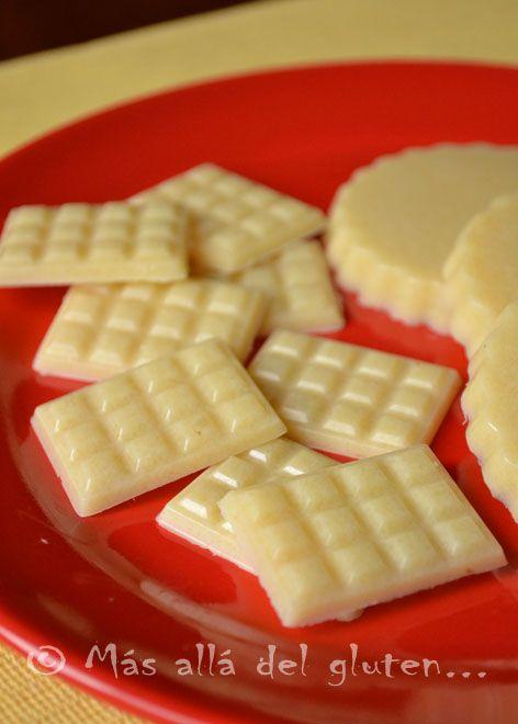 Más allá del gluten...: Chocolatinas Blancas con Coco (Receta SCD, GFCFSF, Vegana, RAW)