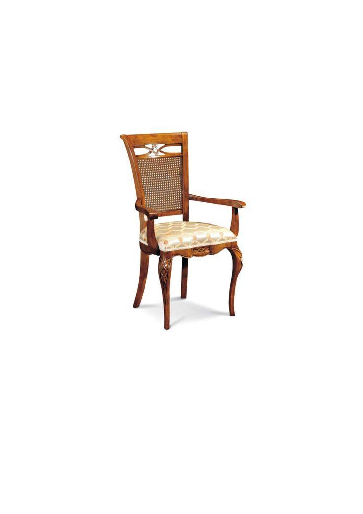 Scaun din lemn masiv art 507p Upholstered Chair Meggoirini Santino Collection
