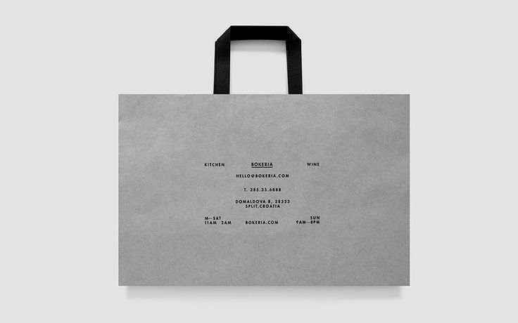bag, packaging, layout, gray, black, typography, negative space