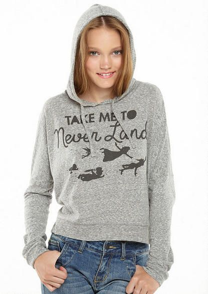 Peter Pan Take Me to Never Land Hoodie - Licensed Graphics - Graphic Tees - dELiA*s