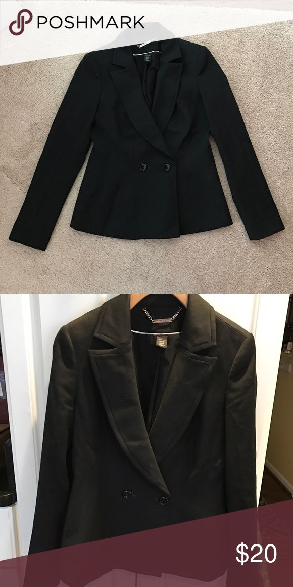 WHBM black suit jacket! Double button suit jacket - LOVED this when it fit! It went with everything!!! White House Black Market Jackets & Coats Blazers