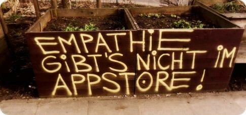 Weisheit des Tages: Empathie gibt's nicht im AppStore on http://www.drlima.net