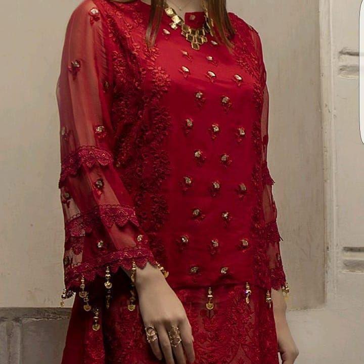 32e807ba1f Azure kurti ******** ****** NEW collection ******* Most hit code Azure  chiffon embroidery kurti now available master replica…