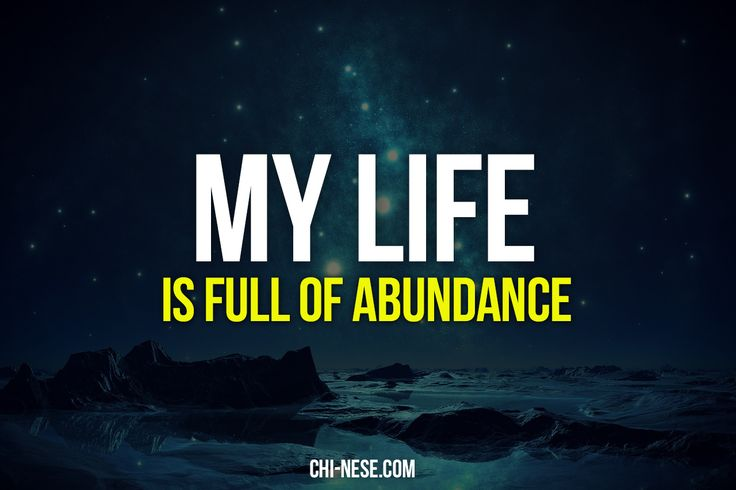 The 8 Most Powerful Abundance Affirmations (images) - Positive Affirmations