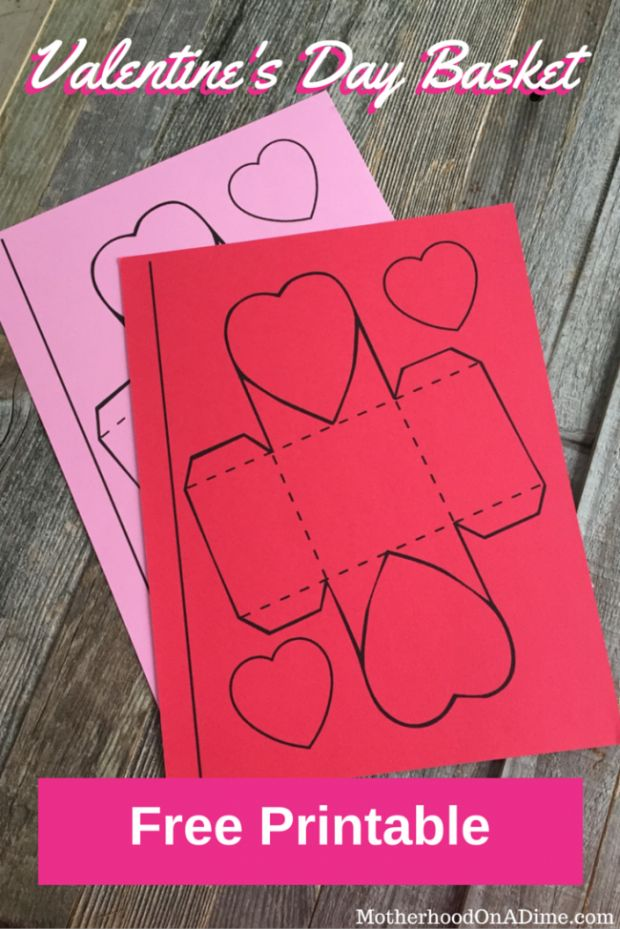 Free Valentine's Day Printable - DIY basket for kids