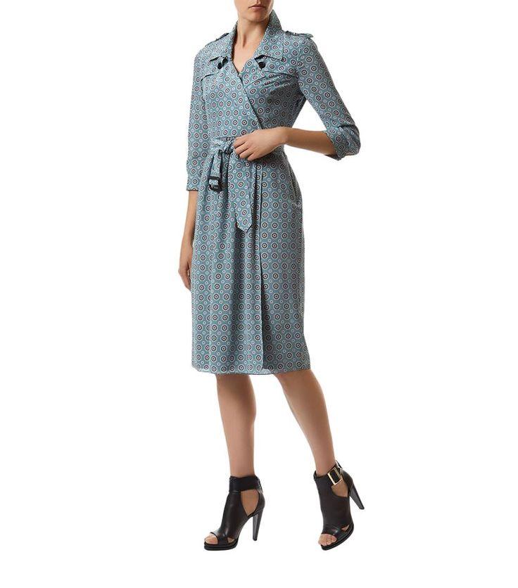 Burberry Runway Compass Rose Silk Trench Dress | Harrods.com