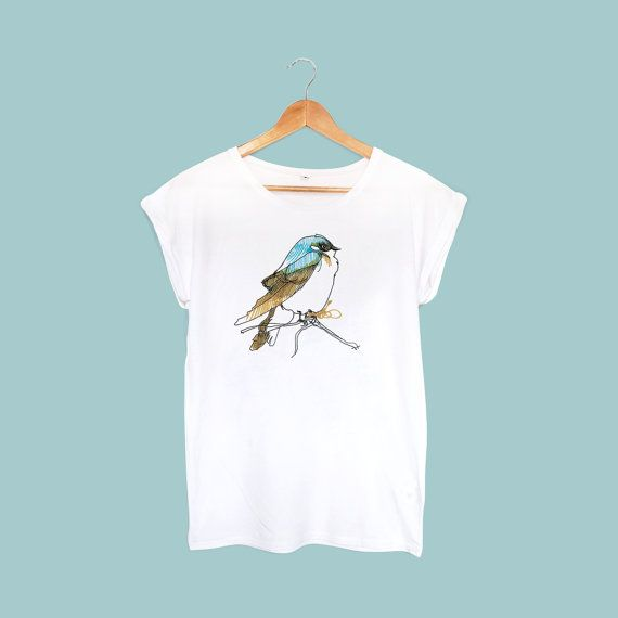 the blue bird t shirt by bambouchic paris