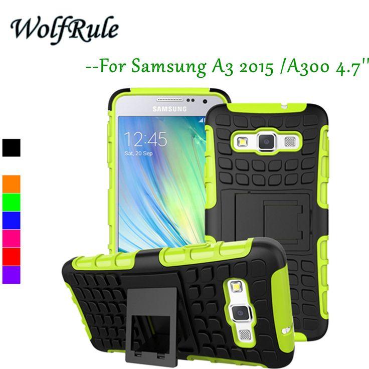 Para samsung galaxy a3 case cubierta a prueba de golpes de silicona + plástico para samsung galaxy a3 bolsa de teléfono soporte para samsung a3 a300 2015 #