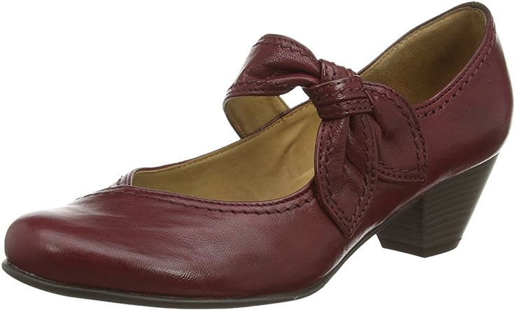 Gabor Women's, Henrietta, Mary Jane, Red (Dark Red Leather), 8 UK: Amazon.co.uk: Shoes & Bags