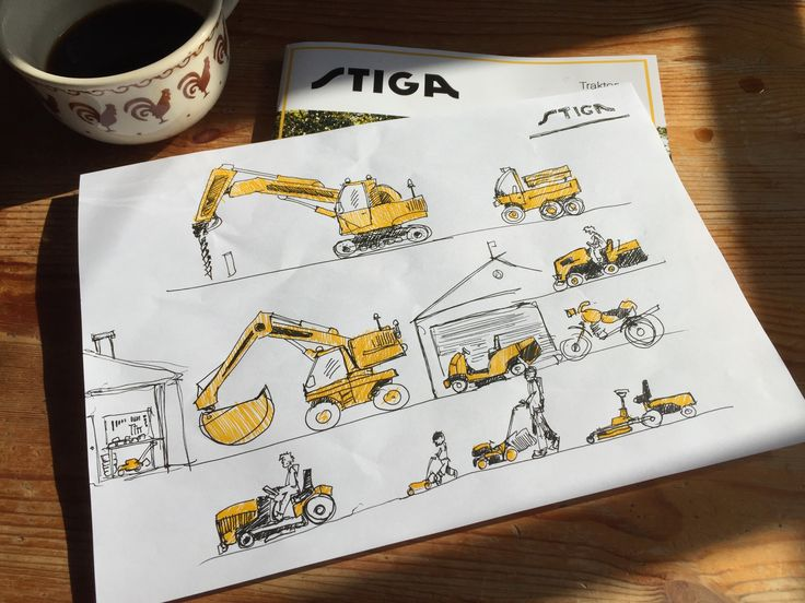 For my son during breakfast 👶;) #funny #excersise #lol #lawnmower #lawn #stiga #yellow #wip #daily #dailysketch #drill #graphicnovel #speedsketch #workinprogress #tinymachinery #drawings #illustration#graphicdesigner #sketches #sketch #graphicsdesign #graphicartist #kidsroomdecor #giftforkids #unipin #excavator