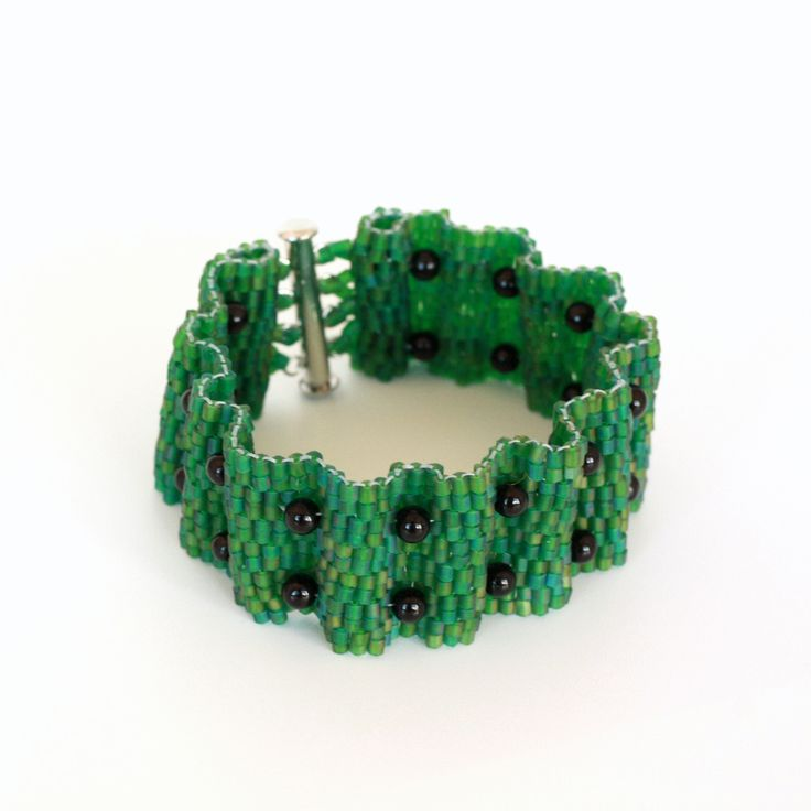 Iridescent Green Wave Bracelet | Shalane Hopkins