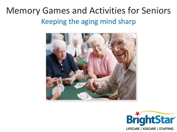 memory-games-and-activities-for-seniors by BrightStar Care via Slideshare